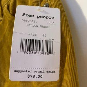 Free People Pants - Last chance ✨FREE PEOPLE YELLOW SKINNY CORDUROY